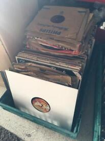 Crate of over 150 LP Records and 50+ 78s