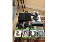 Xbox One Black 500GB Full Package (4 Games, 2 Controllers, Kinect, HDMI Gold Cable)