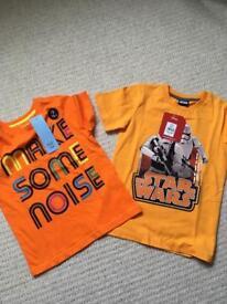 T-shirts x 2 Age 5-6