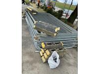 Temporary heras site fencing 3.5m x 2m