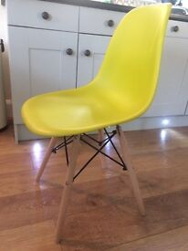 Dining chairs retro plastic , metal and wood
