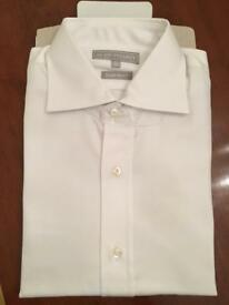 Brand New Alain Figaret (Paris) White Shirt (15.5/39) Double Cuff