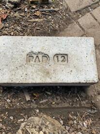 2 x Supreme PAD12 concrete padstones