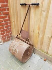 Cast iron garden roller