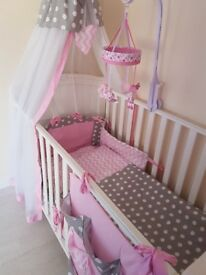 Cot bed set for girl