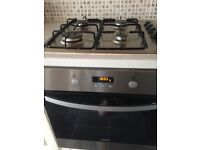 Zanussi electric fan assisted oven & Gas hob.&extractor fan