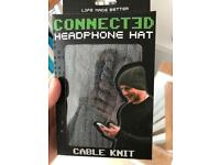 Connected headphone hat **AS NEW**