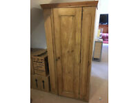 Vintage Pine Single Wardrobe Small Size for child or under the eaves