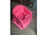 Safety first pink booster seat - hardly used