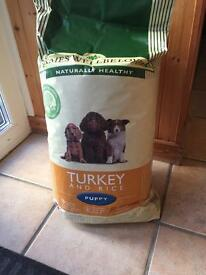James wellbeloved 15kg puppy food - turkey and rice