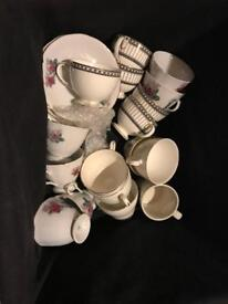Selection of cups and saucers
