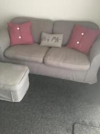 SOLD Grey 2 and 3 seater sofa £100 ono