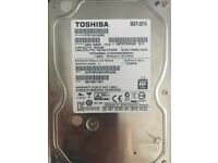 Toshiba 500GB Hard Drive SATA 3.5 - Fully wiped hard drive