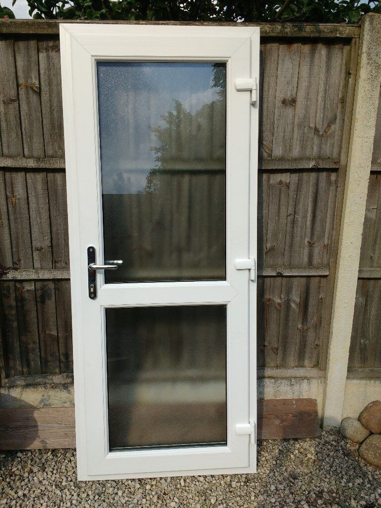 Double glazed back door vgc in burbage leicestershire for Double glazed patio doors sale