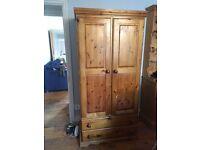 Pine wardrobe £50 OVNO