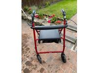 Four wheeled walker