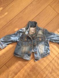 Next denim jacket. Age 6-9 months