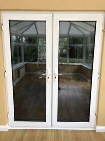 Pair of UPVC double glazed patio doors