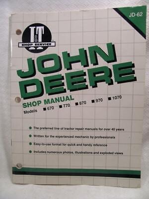 Used John Deere Tractor Shop Manual For Models 670 770 870 970 1070
