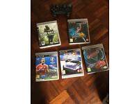 5 PlayStation games and controller