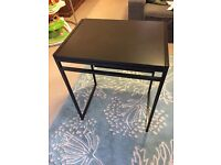 Small compact folding desk table black