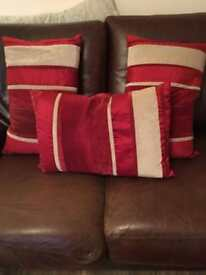 Plush sofa cushions