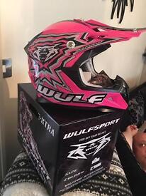 Wulf sport motorcross helmet new