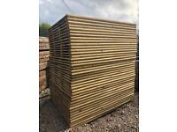 🦋 Various Sizes Of Heavy Duty Tanalised Straight Top Wooden Garden Fence Panels