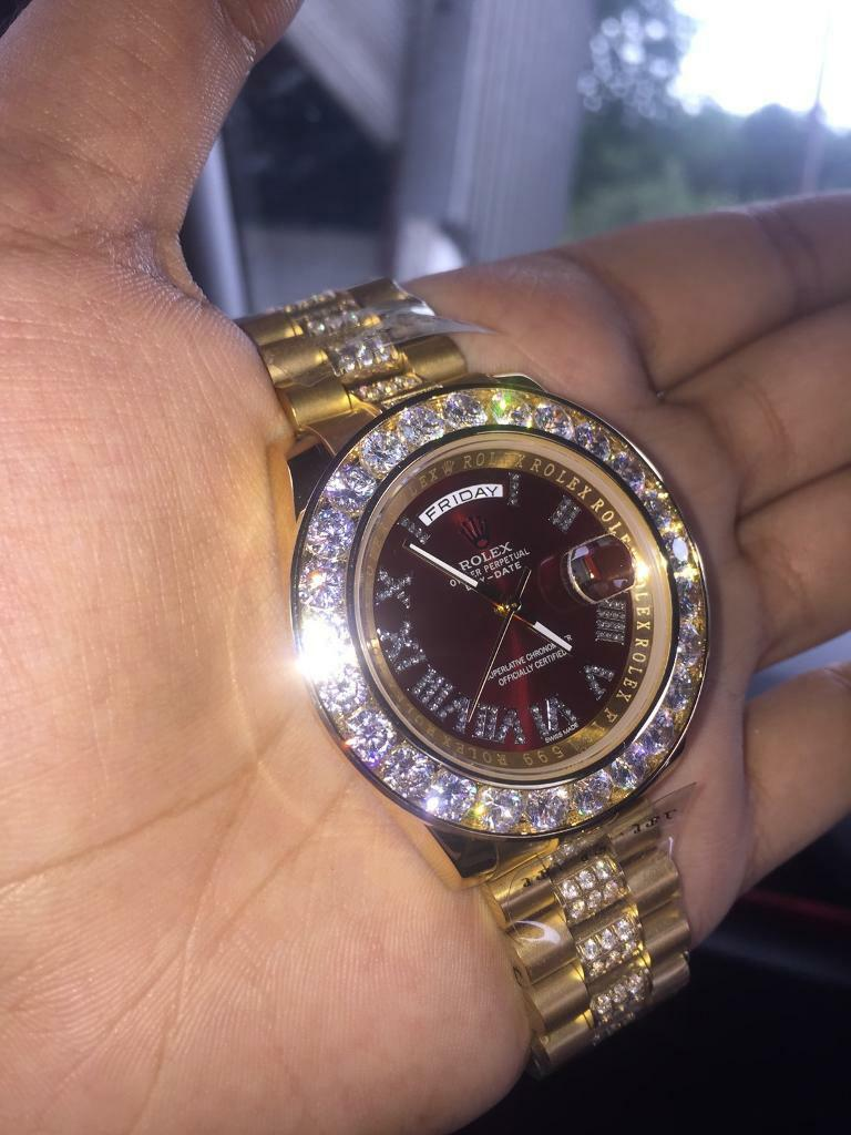 rolex iced out
