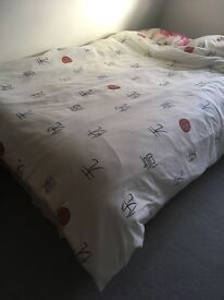 Used double bed
