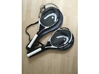 "2x Head ""Titanium Nano"" adult tennis rackets"
