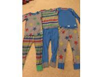 Boys next 2-3 yr old mix match pj pyjamas set bright colours