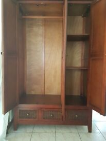 Wardrobe with two bedside tables