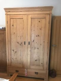 Varios Antique pine wardrobes and cupboard/sideboards