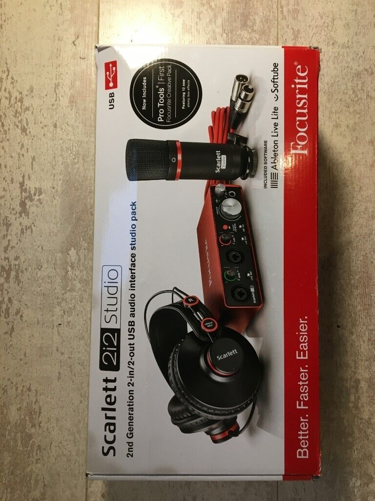 Focusrite Scarlett 2i2 Solo Studio (2nd Gen) USB Audio Interface and  recording bundle | in Southside, Glasgow | Gumtree