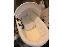 Baby moses basket, never used