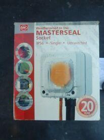 Masterseal waterproof exterior socket. Brand new in original packing. £
