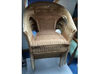 Three IKEA Agen wicker chairs - £8 each or £20 for three
