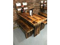 Hand built wooden tables & benches - Cafe - Home - Bar - Restaurant
