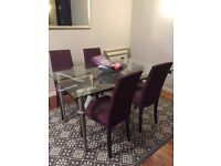 4 x Lovely aubergine dining chairs for sale - £175 - Docklands, east london pick up