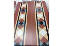 Terracotta tile laminate flooring