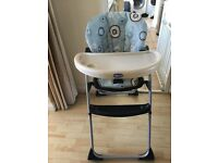 Chicco High Chair - Blue