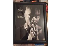 2pac framed picture