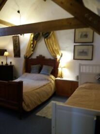Available may bank holiday Beautiful converted stone barn for holiday let near swanage. Sleeps 8-12