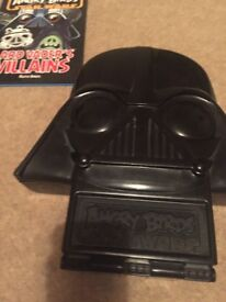 Angry bird's StarWar's figure's Darth Vader storage case and book.
