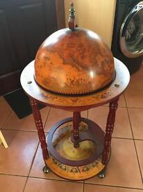 Drinks bar globe cabinet