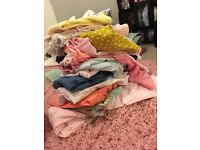 Huge selection of baby girl clothes 3+months and toys