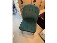 2 velvet green Made Margot chairs