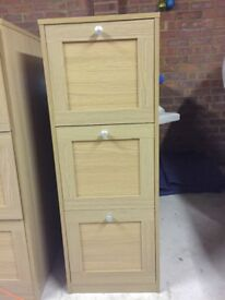 REDUCED excellent condition three drawer filing cabinet