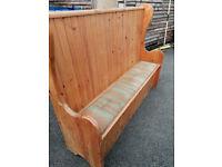 monks bench church pew seating